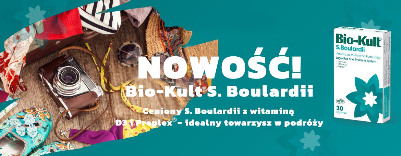 Priobiotyk Bio-Kult S. Boulardii z witaminą D3 i Saccharomyces boulardii wspiera mikroflorę jelitową przy biegunce